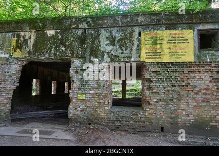 Haus von Martin Bormann, Wolfsschanze, Masuren, Polen, Europa - Stock Photo