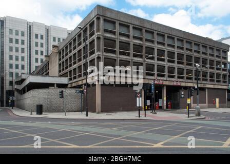 1960s Brutalist Architecture Reinforced Concrete Brutalism Minories Car Park 1 Shorter Street, Tower, London E1 8LP - Stock Photo