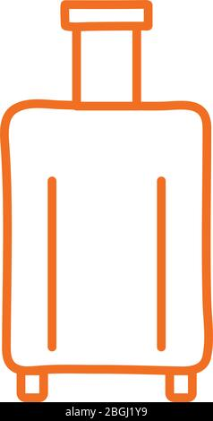 Isolated bag line style icon vector design - Stock Photo