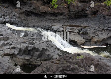 A section of Palikea Stream, Oheo Gulch, Seven Sacred Pools, running through volcanic rock in the Kipahulu District, Maui, Hawaii, USA