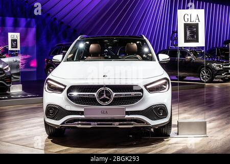 Brussels, Belgium, Jan 2020 Mercedes C classe Coupe 180 ...