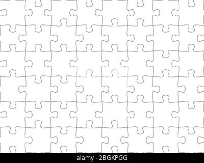 Seamless piece puzzle presentation jigsaw background pattern. EPS 10 - Stock Photo