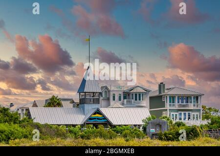 Sunset Beach Home And Vacation Rental Just Off California Highway One Stock Photo Alamy