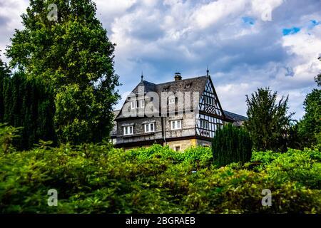 Traditional German house near Schlosshotel Kronberg in Kronberg im Taunus, Hesse, Germany 31.07.2019