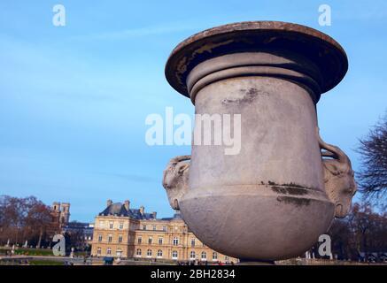 large decorative vase in the park