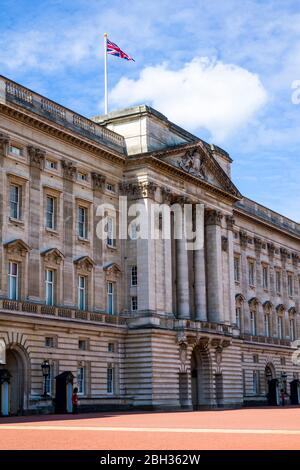 Foot guards Buckingham Palace London England United Kingdom Capital River Thames UK Europe EU
