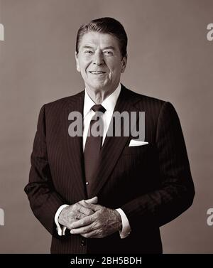 President Ronald Reagan (1911-2004), 40th President of the United States of America. - Stock Photo