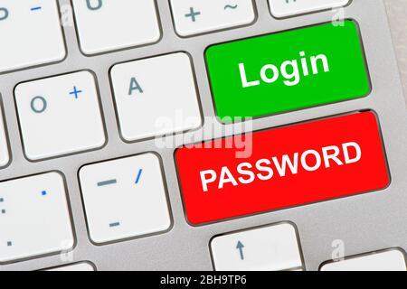 Computer Tastatur mit Aufschrift Login und Password - Stock Photo