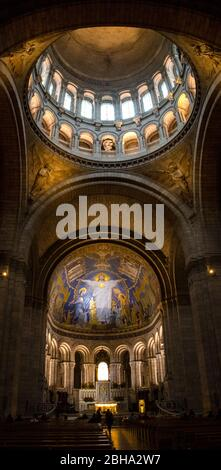 Interior of Basilique Du Sacre Coeur, Paris, France - Stock Photo