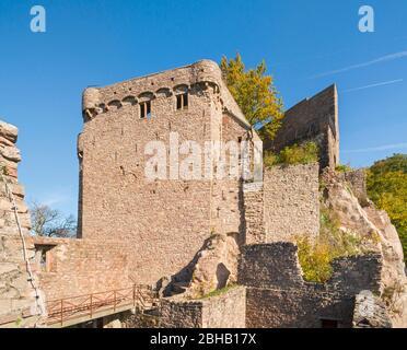 Germany, Baden-Württemberg, Baden-Baden, Hohenbaden Castle,
