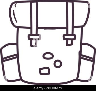 Bag line style icon design, Baggage luggage tourism travel vacation trip journey accessory and holiday theme Vector illustration - Stock Photo