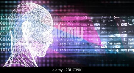 Blockchain Technology As A Creative Business Concept - Stock Photo