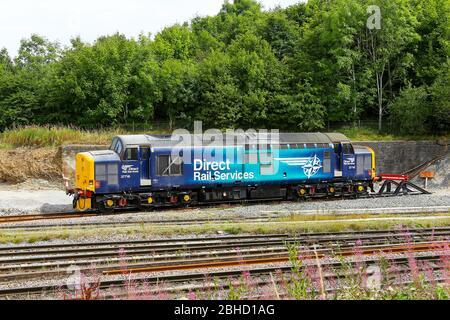 English Electric Type 3 British Rail Class 37 diesel locomotive number 37716, Derbyshire, England, UK - Stock Photo