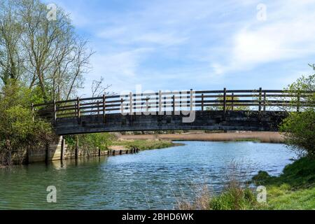 Landscape view of Bartley Water, Totton, Hampshire, England, UK - Stock Photo