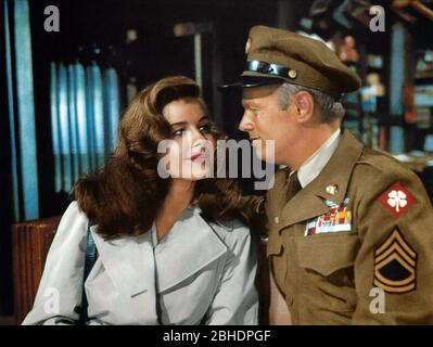 ELAINE STEWART, RICHARD WIDMARK, TAKE THE HIGH GROUND!, 1953 - Stock Photo