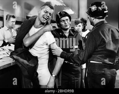 RICHARD WIDMARK, KARL MALDEN, TAKE THE HIGH GROUND!, 1953 - Stock Photo