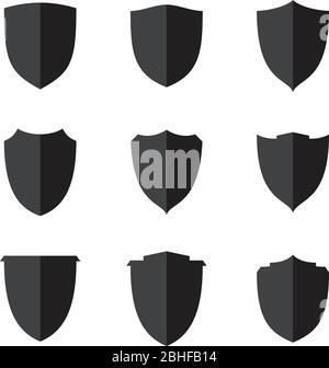 Set flat shield icon for web, Simple flat symbols, guard pictograms. Simple flat pictogram for business, marketing, internet concept.