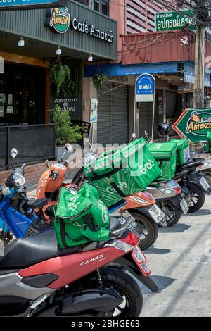 asia thailand southeast delivery requests awaiting grab cafe drink coffee order service alamy