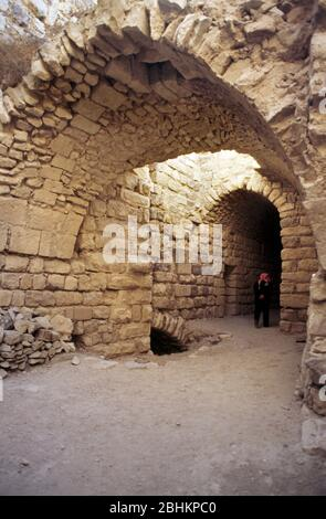 Kerak Jordan Crusaders Castle Stone Archways - Stock Photo