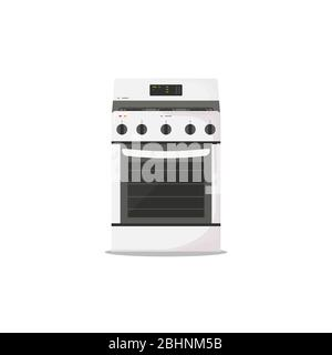 Kitchen stove flat style - Stock Photo