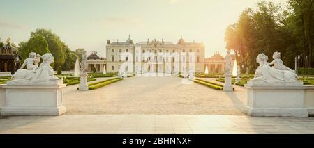 The Branicki Palace and park in Bialystok, Poland - Stock Photo