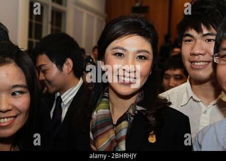 During November 2012 . Her Excellency Ms .Yingluck Shinawatra , Prime Minister of the Kingdom of Thailand , paid an official visit to the United Kigdom .invited by PM David Cameron . the Thai PM was accompanied by key members of the Thai Cabinet . On the 13 November the Thai PM had an audience with the Queen . On the 14 th November the two PM exchanged views on various matters of mutual interest , bilaterally ,regionally and globally. To the end of this meeting , both leaders have agreed to the establishment of a Strategic Dialogue and agreed a new mechanism beneficial for both countries ..