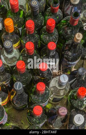 Canada, April 2020 - Confinement due to the coronovirus pandemic has seen an increase in the consumption of alcoholic beverage  - Stock Photo