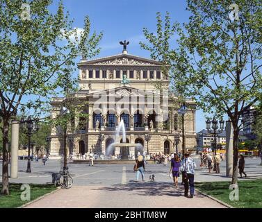 Old Opera House (Alte Oper) facade, Opera Square (Opernplatz) Frankfurt, Hesse, Federal Republic of Germany