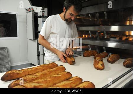 Manufacture of organic bread