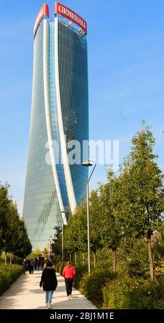 Milan, Italy - 10 November 2019: view of Citylife district in Milan - Stock Photo