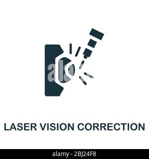 Laser Vision Correction icon. Simple illustration from ophthalmology collection. Creative Laser Vision Correction icon for web design, templates - Stock Photo