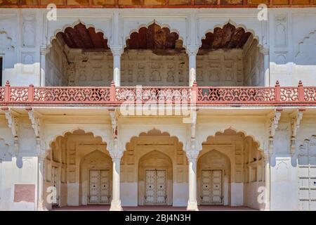 Diwan-i-Khas (Hall of Private Audiences) pavilion in Agra Fort in Agra, Uttar Pradesh, India