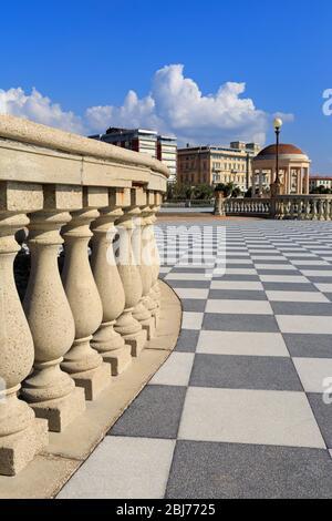 Terrazza Mascagni, Livorno City, Tuscany, Italy, Europe - Stock Photo