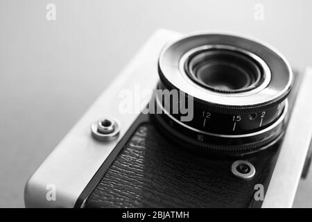 Vintage camera, close up - Stock Photo