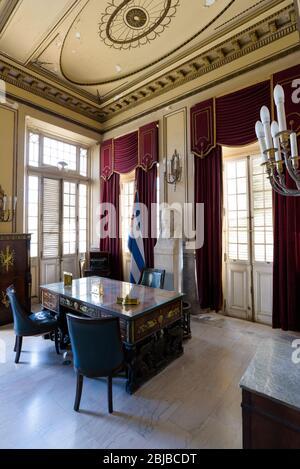 Presidential office inside the Revolution Museum in Havana, Cuba. - Stock Photo