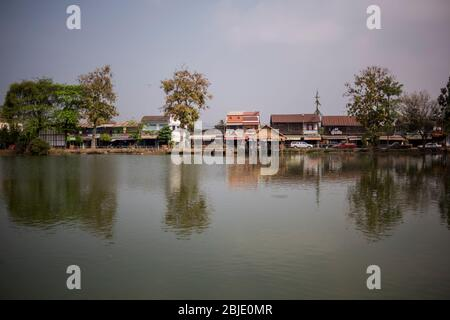 Sukhothai village, Sukhothai, Thailand.