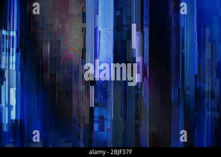Pixelated tv screen, bad signal. Abstract high resolution glitch background.
