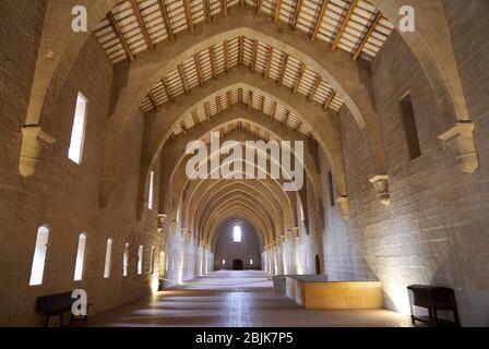 Monks bedroom, Monastery of Santa Maria de Poblet, Tarragona province, Catalonia, Spain, Europe