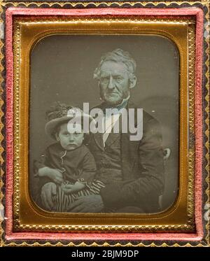 Author: Unknown. Untitled - c. 1850 - Artist unknown American, 19th century. Daguerreotype. 1845'1855. United States. - Stock Photo
