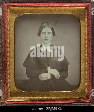 Author: Unknown. Untitled - c. 1850 - Artist unknown Probably American, 19th century. Daguerreotype. 1845'1855. United States. - Stock Photo