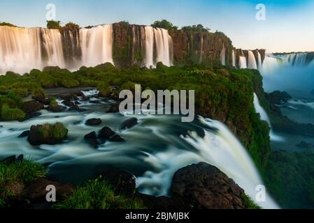 Iguazu Falls (Iguacu in Portugese), on the border of Brazil and Argentina. It is one of the New 7 Wonders of Nature and is a UNESCO World Heritage
