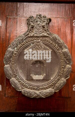 South Africa; Stellenbosch; Dorp Street. La Gratitude, historic 1798 Cape Dutch house, Historical Monuments Commission plaque - Stock Photo