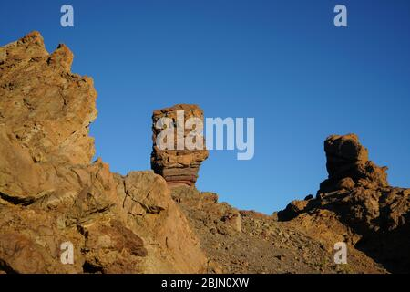 Roques de García, Teide National Park, Tenerife, Canary Islands, Spain, Europe - Stock Photo