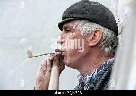 clay pipe Stock Photo