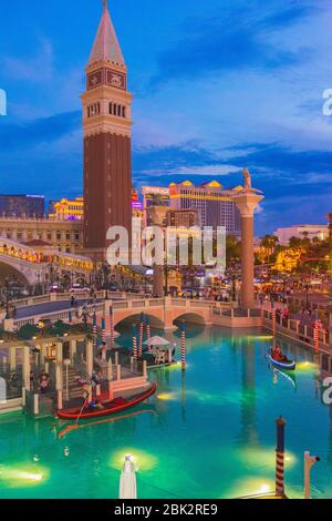Las Vegas, Nevada, USA - July 25th, 2019: Las Vegas strip - Stock Photo