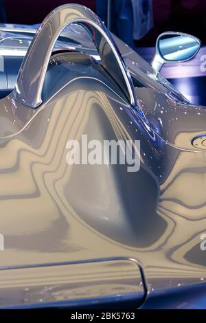 Close up view of a concept car with stunning aerodynamics. - Stock Photo