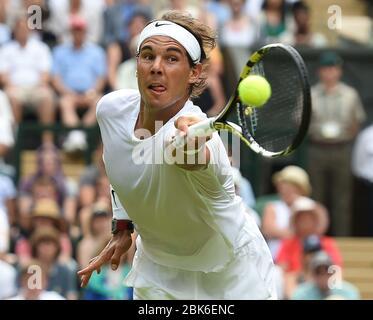 IR20140624. 14/06/24. Wimbledon Tennis Championships 2014, Wimbledon,  London. Mens Singles, Martin Klizan, (SVK) v Rafael Nadal, (ESP) (2) on Centre