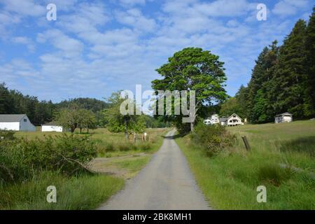 The settlement of Prevost on Stuart Island in the San Juan Islands, Washington State, USA. - Stock Photo