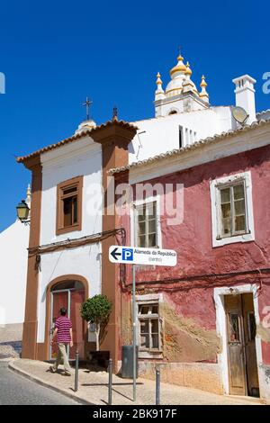 Main Church of Nossa Senhora da Conceicao, Portimao, Algarve, Portugal, Europe - Stock Photo