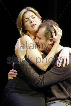 Betrayal by Harold Pinter, directed by Peter Hall with Janie Dee as Emma, Aden Gillett as Jerry opens at the Duchess Theatre on 8/10/03  CREDIT Geraint Lewis - Stock Photo